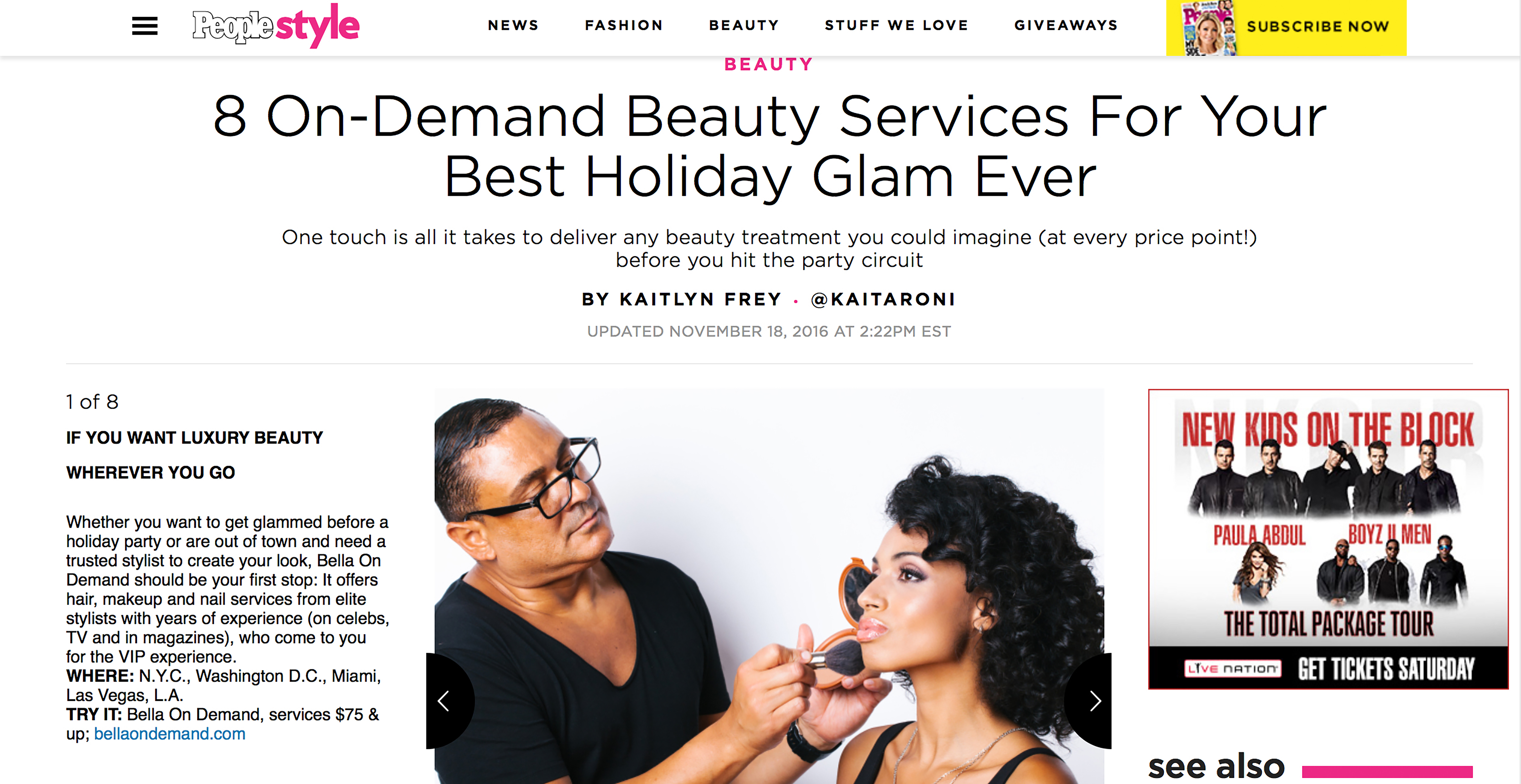 We were thrilled to be featured on People.com as one of the top 8 On-Demand beauty services for your best holiday glam ever! People is one of our most favorite publications and we were so honored to be included in this round up of on-demand all stars. The holiday season is now upon us and if you are […]